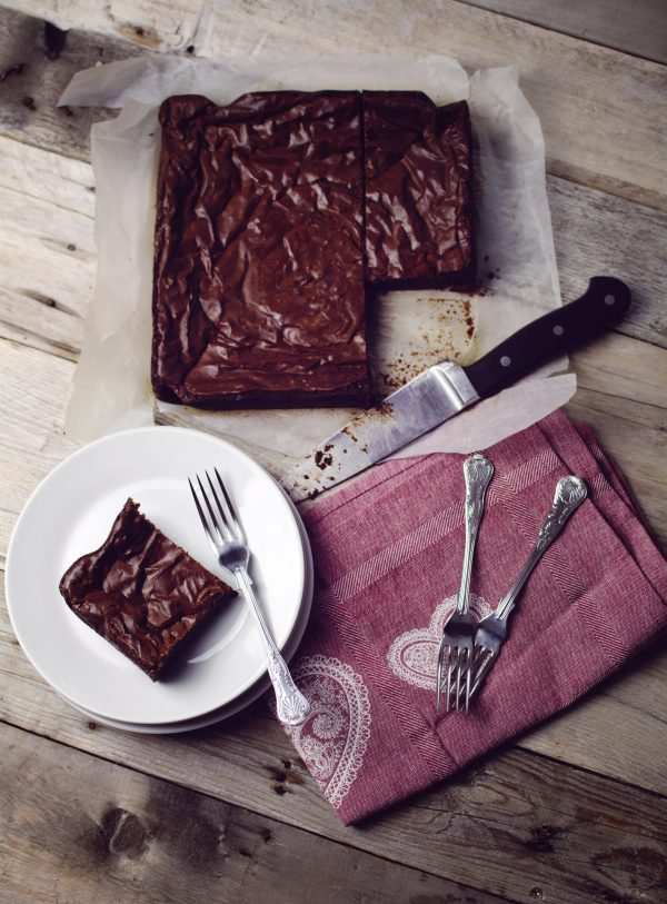 hand made chocolate brownie made with real belgian chocolate