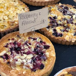 6 inch selection of almond - frangipane tarts with fruit