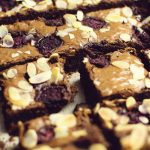 bakewell and belgian chocolate brownie