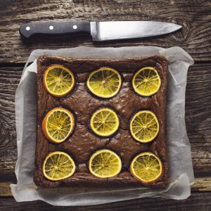 orange and chocolate brownies from Dugans