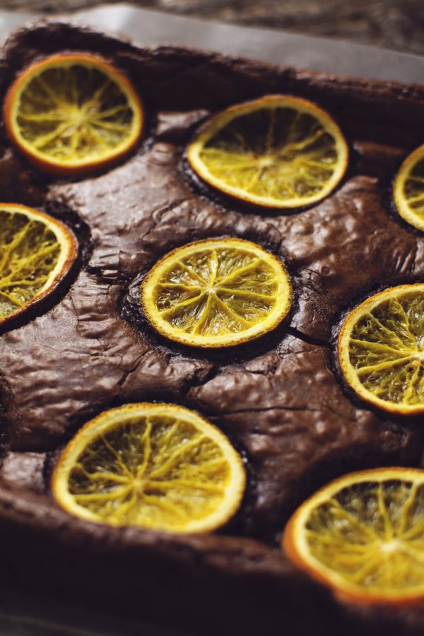 artisan orange and chocolate brownie