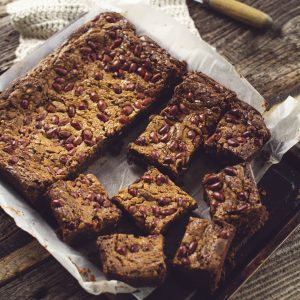 crunchy peanut butter brownie slab