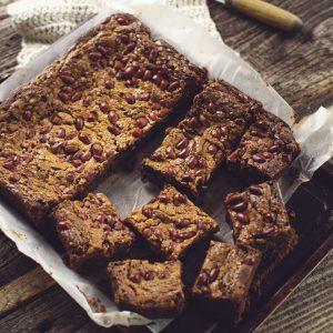crunchy peanut butter brownie slab