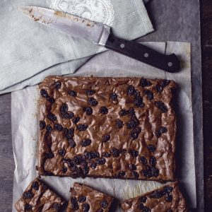 rum and raisin artisan brownies